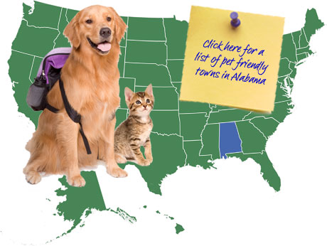 Alabama Pet Friendly Map