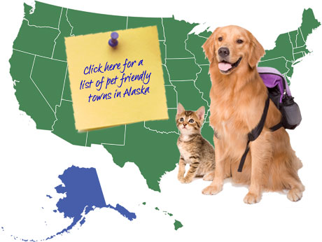 Alaska Pet Friendly Map