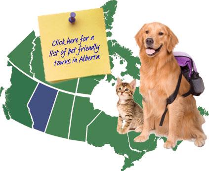 Alberta Canada Pet Friendly Map