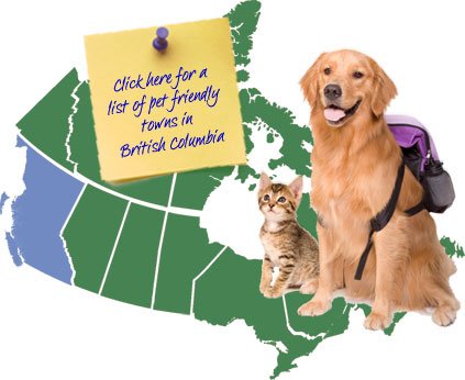 British Columbia Canada Pet Friendly Map