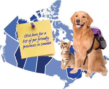 Canada Pet Friendly Map