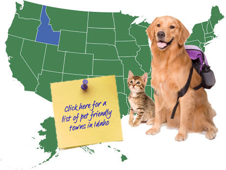 Idaho Pet Friendly Map