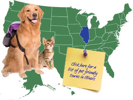 Illinois Pet Friendly Map
