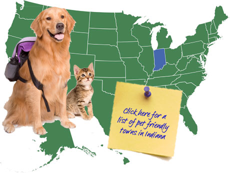 Indiana Pet Friendly Map