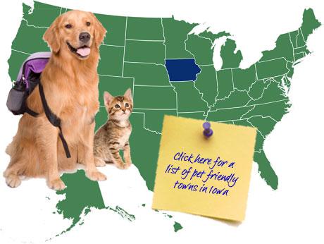 Iowa Pet Friendly Map