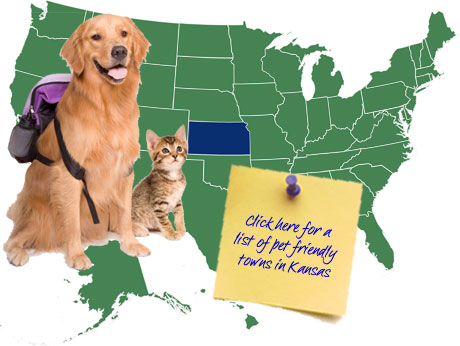 Kansas Pet Friendly Map