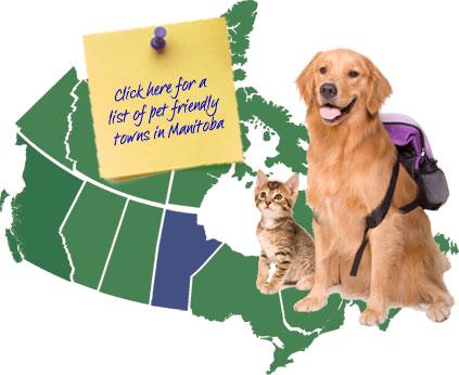 Manitoba Canada Pet Friendly Map