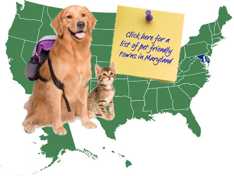 Maryland Pet Friendly Map