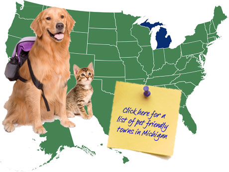 Michigan Pet Friendly Map