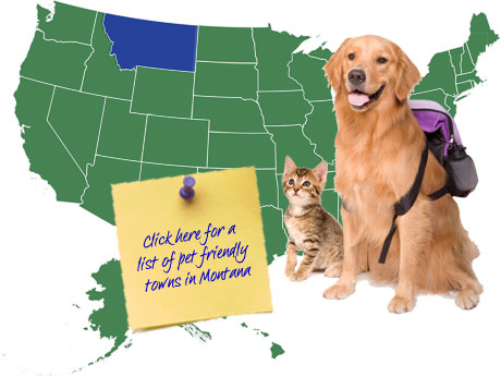 Montana Pet Friendly Map