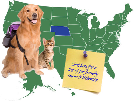 Nebraska Pet Friendly Map