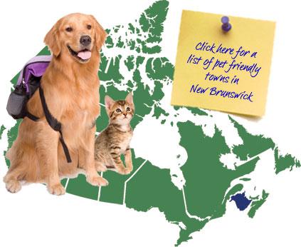 New Brunswick Pet Friendly Map