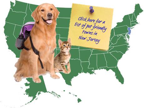 New Jersey Pet Friendly Map