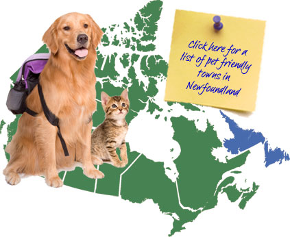 Newfoundland Pet Friendly Map