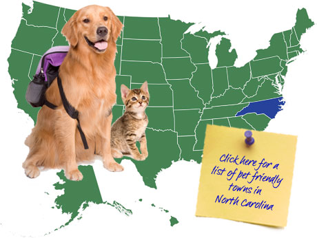 North Carolina Pet Friendly Map