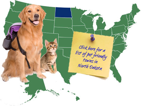North Dakota Pet Friendly Map