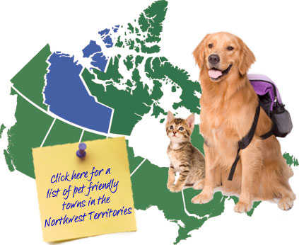 Northwest Territories Canada Pet Friendly Map