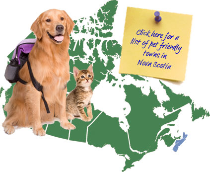 Nova Scotia Pet Friendly Map