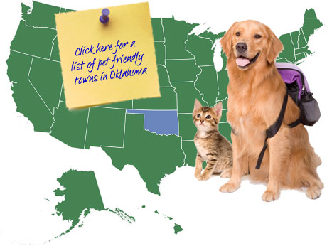 Oklahoma Pet Friendly Map