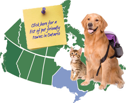 Ontario Canada Pet Friendly Map