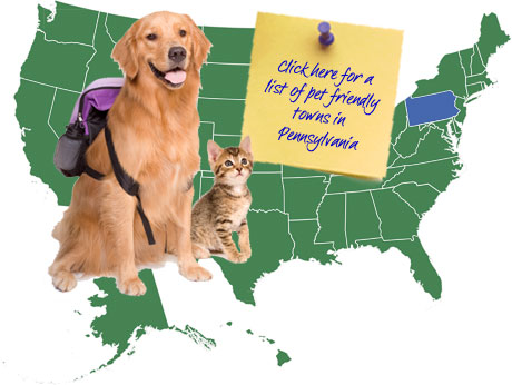 Pennsylvania Pet Friendly Map