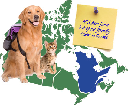 Quebec Pet Friendly Map