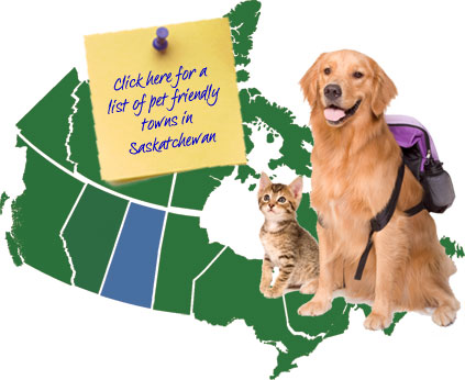 Saskatchewan Canada Pet Friendly Map