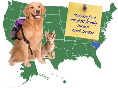 South Carolina Pet Friendly Map