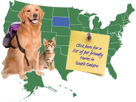 South Dakota Pet Friendly Map