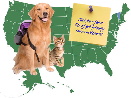 Vermont Pet Friendly Map