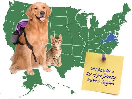 Virginia Pet Friendly Map