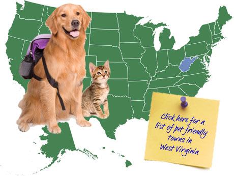 West Virginia Pet Friendly Map