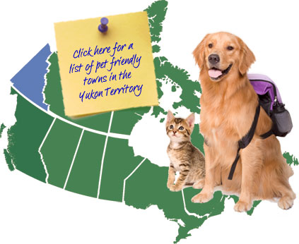 Yukon Territory Canada Pet Friendly Map